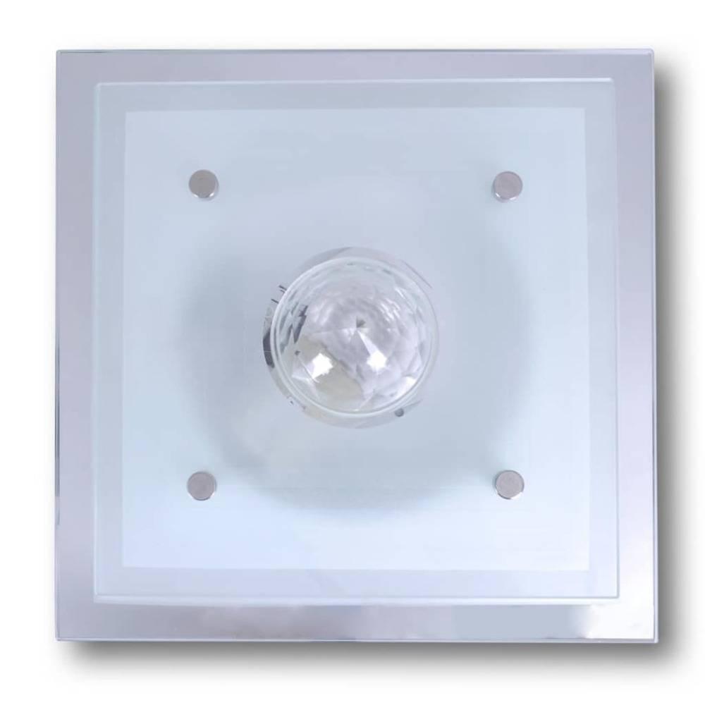 vidaXL Plafondlamp vierkant glas 1xE27 kristal