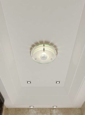 vidaXL Plafondlamp rond glas 1xE27 kristal