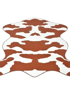 vidaXL Vloerkleed 150x220 cm bruin koeien print
