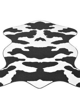 vidaXL Vloerkleed 150x220 cm zwart koeien print
