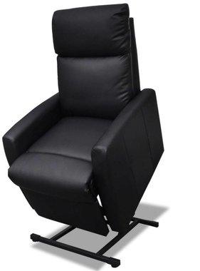 vidaXL Fauteuil elektrisch sta-op-stoel kunstleer zwart