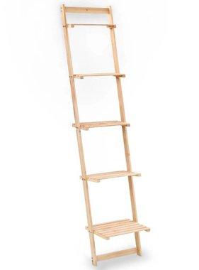 vidaXL Wandrek ladder 41,5x30x176 cm cederhout