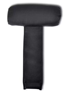 vidaXL Hoofdsteun voor stoelen (zwart)