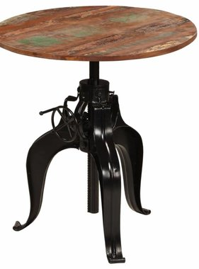 vidaXL Bartafel massief gerecycled hout 75x(76-110) cm