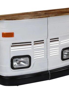 vidaXL Bartafel vrachtwagen massief mangohout wit