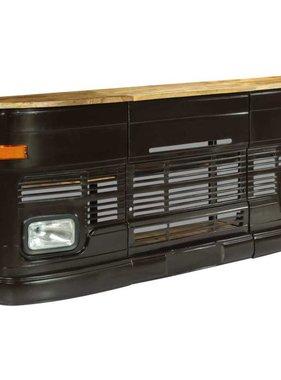 vidaXL Bartafel vrachtwagen massief mangohout donkergrijs