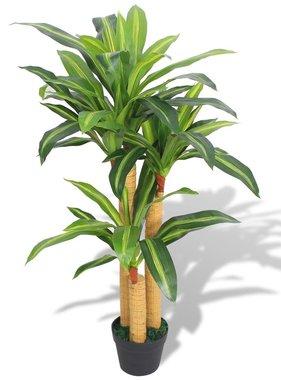 vidaXL Kunst dracena plant met pot 100 cm groen