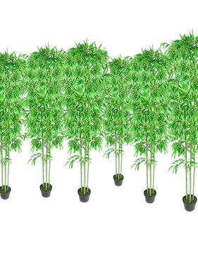 vidaXL Bamboe kunstboom set van 6