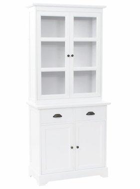 vidaXL Buffetkast met 4 deuren 80x40x180 cm MDF en grenenhout