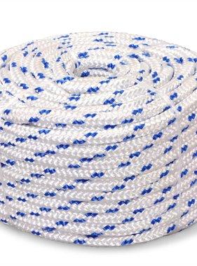 vidaXL Boot touw 10 mm 250 m polypropyleen wit