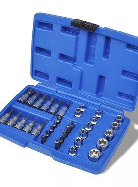 vidaXL Torx- en dopsleutelset met opslagkoffer 34-delig