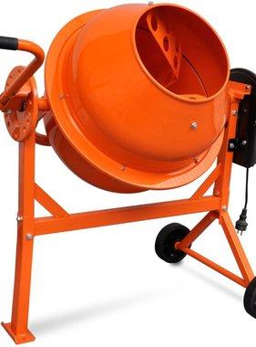 vidaXL Elektrische Betonmolen oranje staal 63 L 220 W