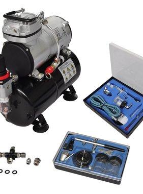 vidaXL Airbrush Compressorset met 2 pistolen