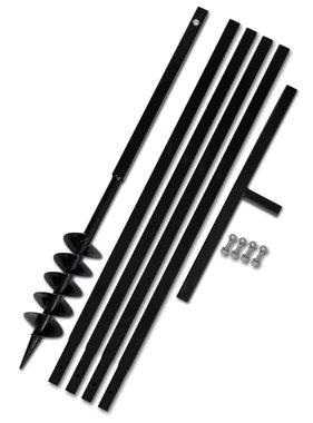 vidaXL Grondboor 100 mm met 5 m verlengstuk Staal