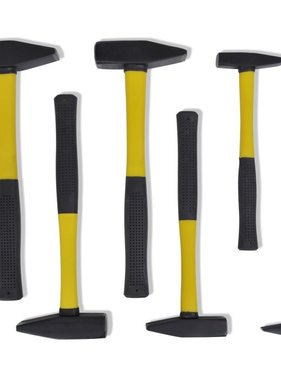 vidaXL Hamer met plastic handvat (set van 6)