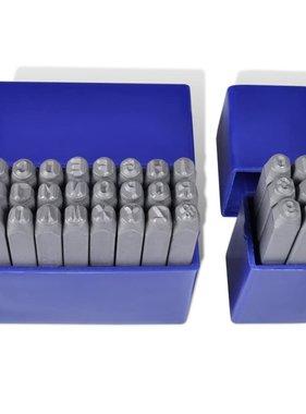 vidaXL Getal en letter Slagstempelset 4mm