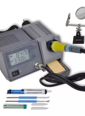 vidaXL Digitaal soldeerstation 48W met accessoires