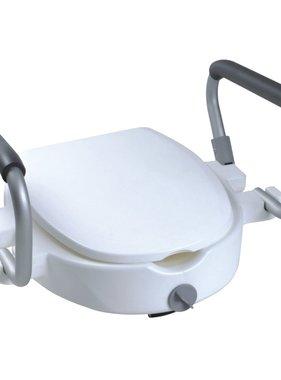 Parcura Verhoogde toiletbril met armleuningen 120 kg wit 84841