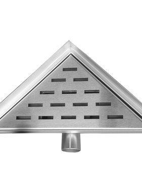 L'Aqua Doucheputje driehoek 25x25 cm roestvrij staal