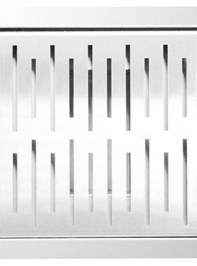 L'Aqua Doucheputje vierkant 20x20 cm roestvrij staal