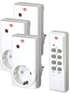 Brennenstuhl draadloos stopcontact set met afstandsbediening RCS 1000N