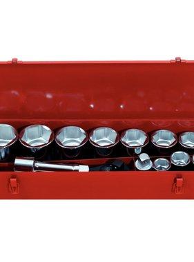 KS Tools ratel doppendoos set (1 inch 15 stuks)