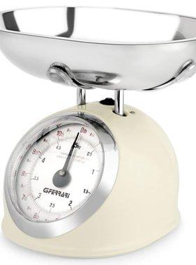 G3FERRARI Mechanische keukenweegschaal 5 kg crème G20003