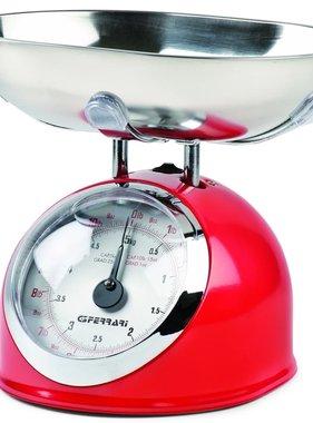 G3FERRARI Mechanische keukenweegschaal 5 kg rood G20003