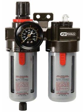 """KS Tools Drukregelaar met accessoires 3/8"""" 0,5-12 Bar 515.3350"""