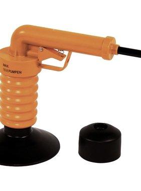 Drain Buster Afvoerontstopper handmatig oranje en zwart