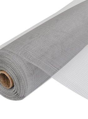 vidaXL Gaas aluminium op rol voor hordeuren en -ramen 100 x 500 cm zilver