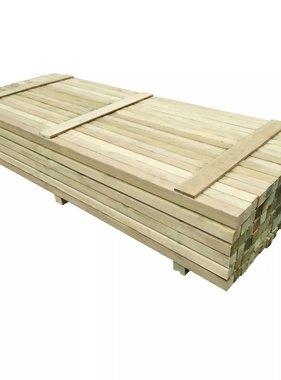 vidaXL Schuttingpalen 6x6x240 cm geïmpregneerd grenenhout 96 st