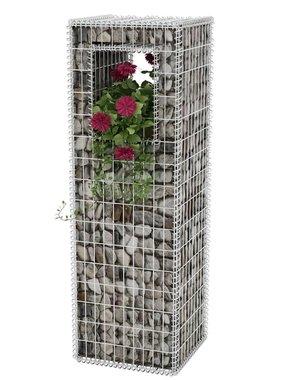 vidaXL Schanskorf paal/plantenbak 50x50x160 cm staal