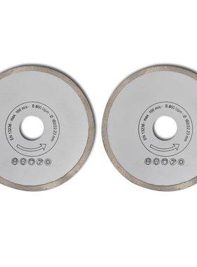 vidaXL Diamantzaagblad doorlopende rand 180mm (2 stuks)