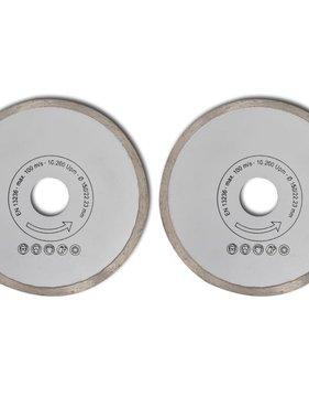 vidaXL Diamantzaagblad doorlopende rand 150 mm (2 stuks)