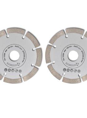 vidaXL Diamantzaagblad cirkelvormig 230mm (2 stuks)