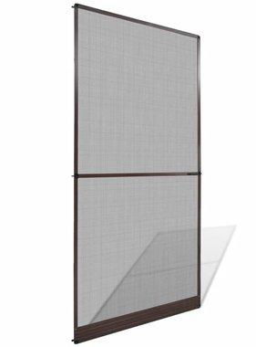 vidaXL Hordeur met scharnieren bruin 120 x 240 cm