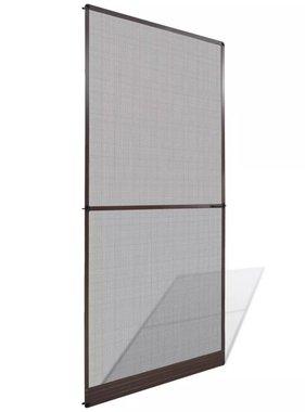 vidaXL Hordeur met scharnieren bruin 100 x 215 cm