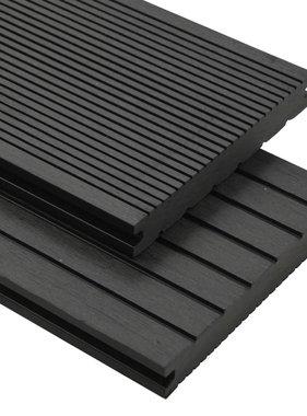 vidaXL Terrasplanken met accessoires 20 m² 2,2 m massief HKC zwart