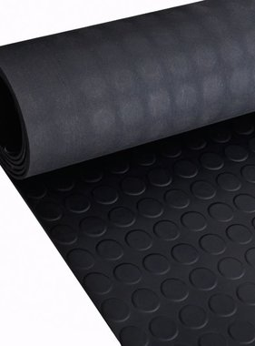 vidaXL Rubberen anti-slip vloermat 5x1m stippen