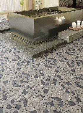 vidaXL Stenen mozaïek tegels zwart en wit marmer 0,9 m2