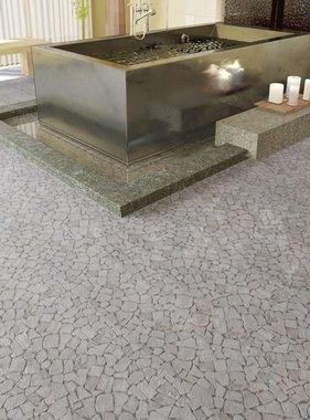 vidaXL Stenen mozaïek tegels wit marmer 0,9 m2