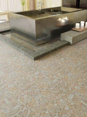 vidaXL Stenen mozaïek tegels goud marmer 0,9 m2