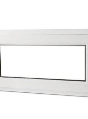 vidaXL Draaikiepraam van PVC met dubbel glas en handvat rechts 900 x 500 mm