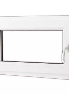 vidaXL Draaikiepraam van PVC met dubbel glas en handvat rechts 800 x 500 mm