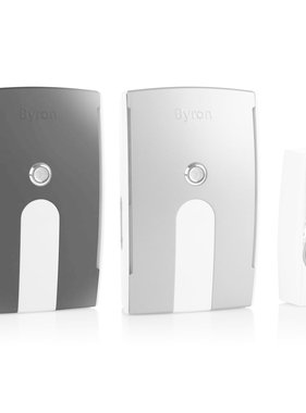 Byron Draadloze plug-in deurbelset BY535E met 2 gongen 125 m 10.007.90