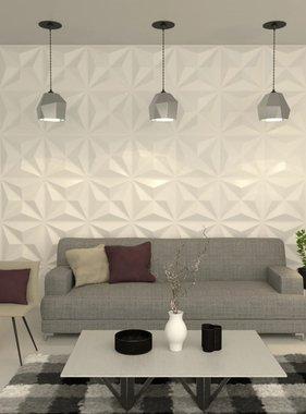 vidaXL Wandpaneel 3D 0,5x0,5 m 6m² 24 st