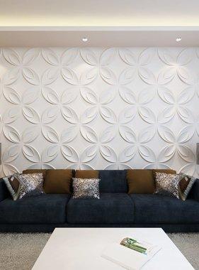 vidaXL 66 x 3D wandpanelen (bloemenmotief) 0,3 m x 0,3 m - 6 m²