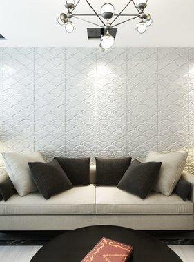 vidaXL 24 x 3D wandpanelen (boog motief) 0,5 m x 0,5 m - 6 m²