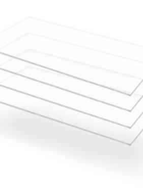 vidaXL Acrylplaten 600x1200x4 mm transparant 4 st